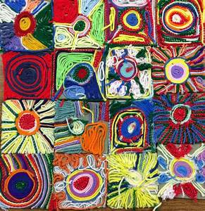 Kathy, U0026, 39, S, Art, Project, Ideas, Mexican, Sun, Huichol, Yarn, Painting, Art, Lesson