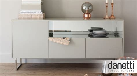 Black And Chrome Sideboard by Contemporary Grey High Gloss Sideboard Danetti Uk