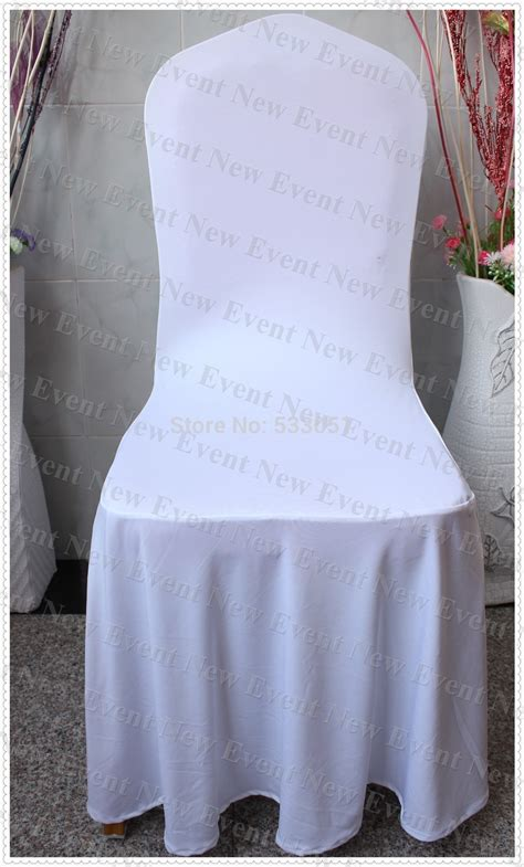housse chaise lycra 190g m2 lycra fabric white color pleated swag spandex chair cover for wedding