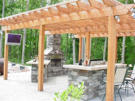 pergola kitchen outdoor outdoor fireplace kitchen and pergola yelp