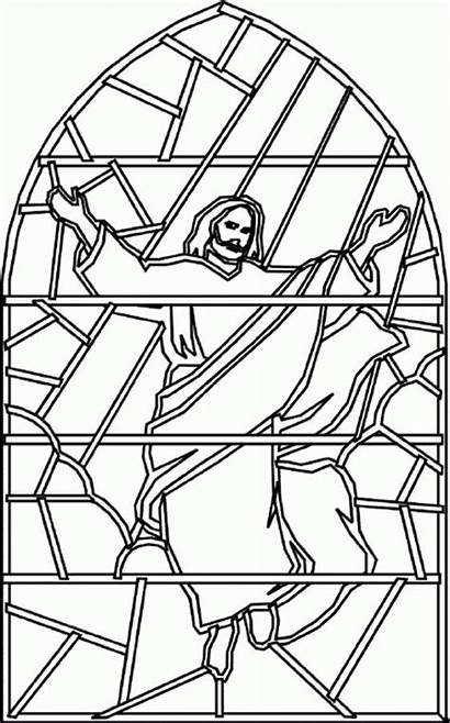 Jesus Coloring Ascension Pages Christ Bible Children