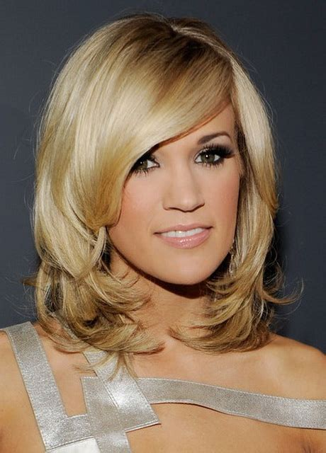 medium hairstyles with layers and side bangs medium length haircuts with side bangs and layers