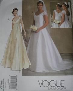 vogue 2788 wedding dress sewing pattern full figure plus With plus size wedding dress patterns
