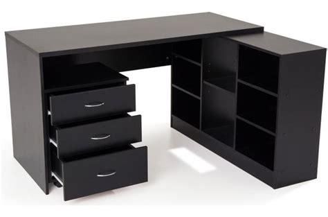 fly chaise de bureau bureau en imitation bois noir avec retour trend design sur