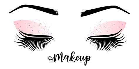 Eyelashes and eyebrows vector logo stock illustration. Vector Illustration Of Lashes And Brow Stock Illustration ...