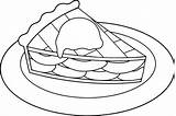 Pie Coloring Apple Slice Cake Sweet Drawing Cutie Printable Para Apples Colouring Cheese Colorir Tea Bubble Tweety Desenhos Template Simple sketch template