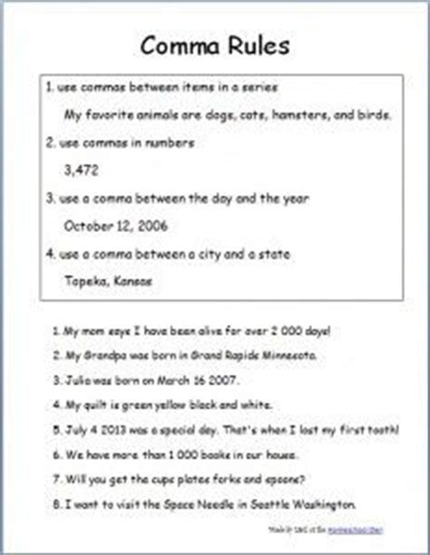 Comma Practice Packet 2  The O'jays, Keys And Commas In A Series