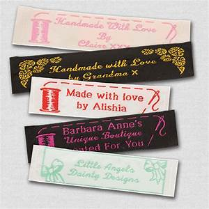 50 personalized sewing labels 1 wide 100 woven With embroidery labels sewing