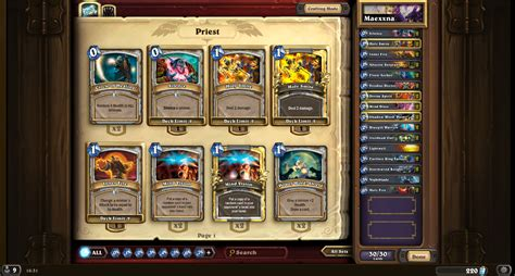 Budget Priest Deck Hearthpwn by Heroic Maexxna As Priest Priest Class Discussion