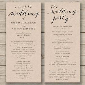 wedding program templates program template and wedding With wedding blessing order of service template