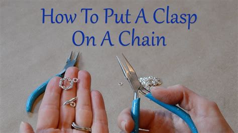 Diy Jewelry Repair How To Put A Clasp On A Chain  Youtube