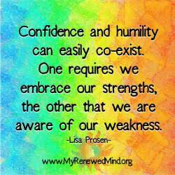 Confidence and Humility Quote