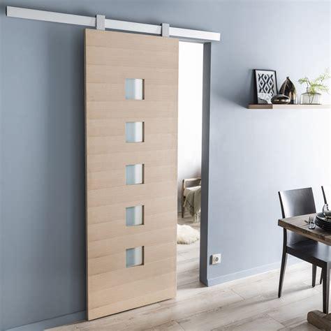 porte de cuisine coulissante ensemble porte coulissante léo chêne plaqué chêne avec le