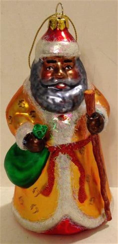 resin african american kwanzaa santa claus yule father