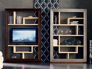 Bibliothèque Murale Bois : toile day biblioth que by cantiero design arbet design ~ Premium-room.com Idées de Décoration