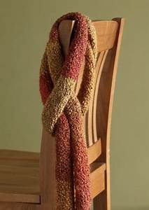 Free Downloadable Afghan Scarf In Lion Brand Homespun 90052ad Knitting