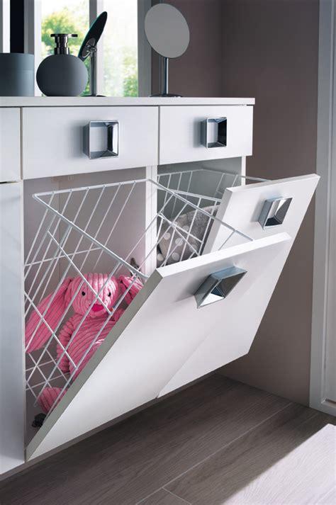 meuble salle de bain panier a linge integre solutions pour int 233 grer une buanderie 224 la salle de bains