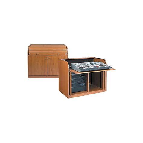 roll top desk for sound mixing boards raxxess elite roll top rack mixing desk walnut musician