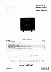 Free Download Marantz Ma 700 Service Manual