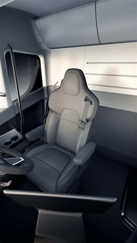 wallpaper tesla semi truck electric car interior