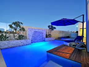 Geometric Pool Design Bluestone Decking Decorative Lighting Pool Photo 1187242 Find Out The Right Swimming Pool Designs