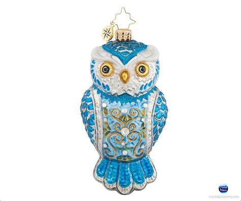 1017791 christopher radko owl see you in winter christmas