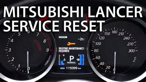 reset service  mitsubishi lancer  routine