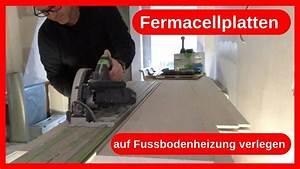 Vinylboden Auf Fußbodenheizung : fermacellplatten trockenestrich auf fussbodenheizung schneiden verlegen trockenbau dachausbau ~ Watch28wear.com Haus und Dekorationen