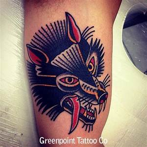 Tatouage Loup Celtique : tatouage old school avec une t te de loup inkage ~ Farleysfitness.com Idées de Décoration