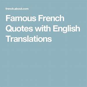 French Quotes About Life With English Translation | www ...