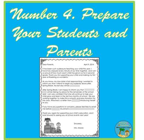 ways  prepare   maternity leave   teacher