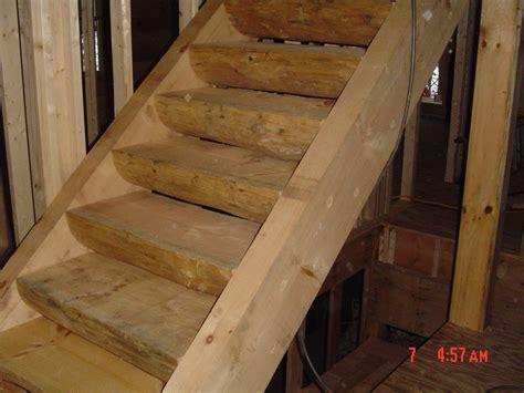 log stairs  log home neighborhood