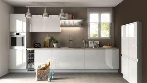 cuisine blanche sans poign馥 cuisine ikea blanche et bois maison design bahbe com