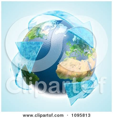3d Earth With Recycle Water Arrows Posters, Art Prints by