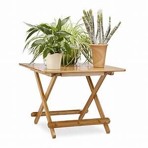 Table Pliante D Appoint : relaxdays table d 39 appoint pliable en bambou console ~ Melissatoandfro.com Idées de Décoration