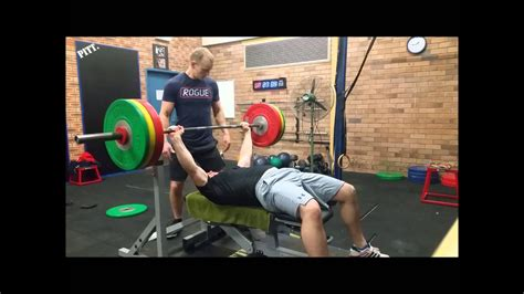 Starting Weight Bench Press by 1st 1rm Bench Press 122kg 268lbs Starting Strength
