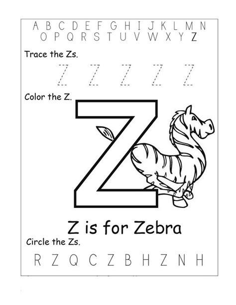 letter z worksheets for kindergarten activity shelter