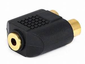 Monoprice 3 5mm Ts Mono Jack To 2x Rca Jack Splitter