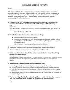 qualitative research article critique  education