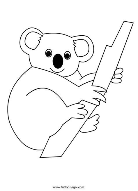 koala da colorare tuttodisegnicom