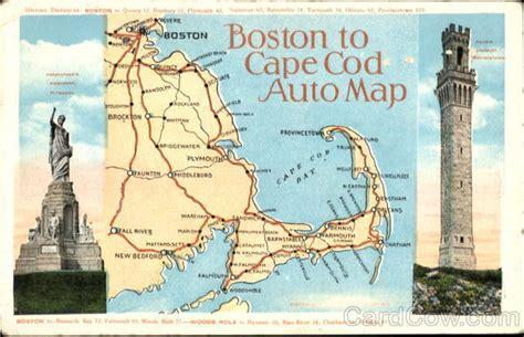 Boston To Cape Cod Auto Map