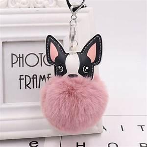 Pompon Porte Clef : pompom dog keychain pom pom key chain pompon porte clef fluffy fur ball key ring llaveros ~ Teatrodelosmanantiales.com Idées de Décoration
