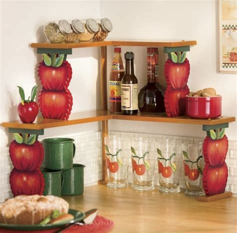 apple kitchen accessories apple corner shelves my country apple themed 1319