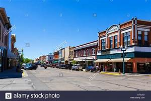 South 2nd Street in downtown Laramie, Wyoming, USA Stock ...