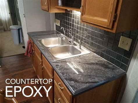 epoxy countertop  poured   existing formica