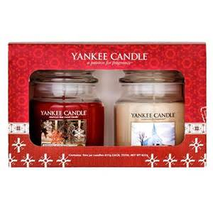 yankee candle christmas two medium candle gift set buy yankee candle christmas two medium