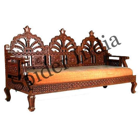 teak wood fine rajasthani barmeri carved couch