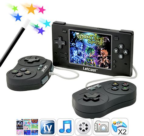 handheld emulator console letcool handheld emulator offers 2 player goodness in