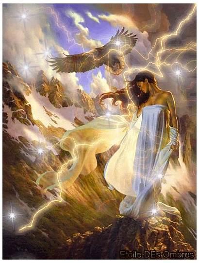 Spiritual Awakening Wisdom Heaven Animated Fantasy Digital