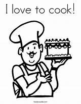 Coloring Chef Cook Baker Coloringhome Cake Twisty Noodle Bakker Kleurplaat Baking Popular Digi Ll Lesidee Juf Sanne sketch template